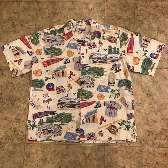 5a78bda2 Shirts   Vintage Reyn Spooner Atlanta Braves Button Up   Poshmark